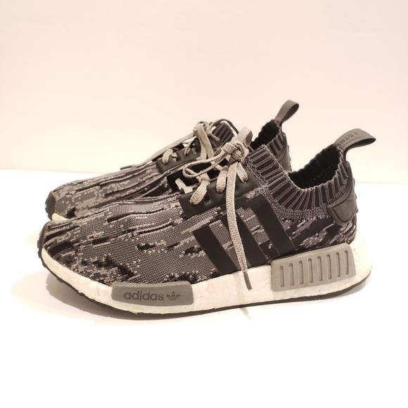 Adidas Shoes Nmdr1 Core Black Grey White Mens 6 Poshmark